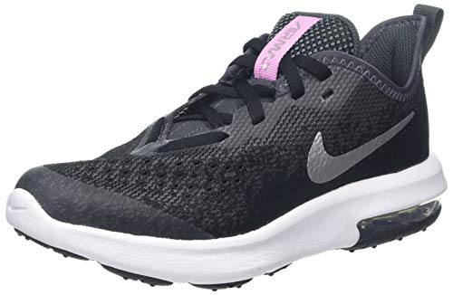Nike Air MAX Sequent 4 (PS), Zapatillas de Running para Niñas, Negro (Black/Metallic Silver/Anthracite/White 001), 28.5 EU
