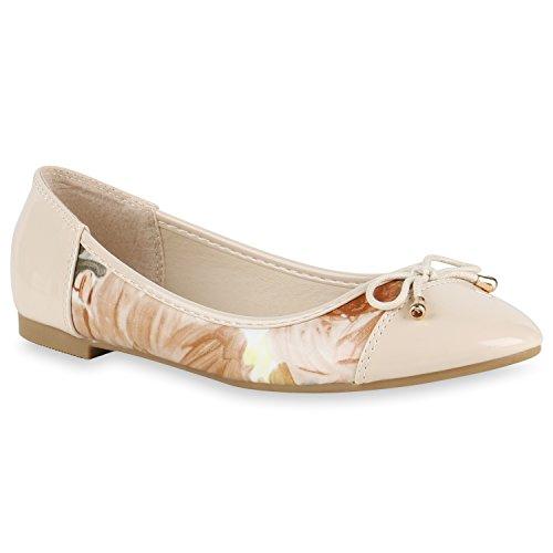 Blumenprint Neon Damen Creme Halb Modische Schuhe Ketten Slipper Ballerinas 8wxdPX