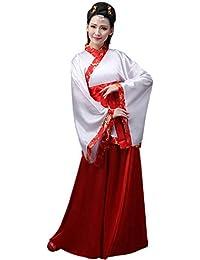 ZEVONDA Mujer Clásico Ropa de Cosplay Actuaciones Traje de Tang Estilo Chino Antiguo Vestido Hanfu Princesa