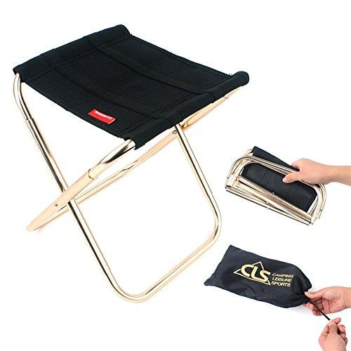Leking sedia pieghevole per esterni, campeggio da campeggio in alluminio pieghevole zaino da viaggio portatile sgabello per l'escursione pesca da picnic picnic carico massimo 220 libbre