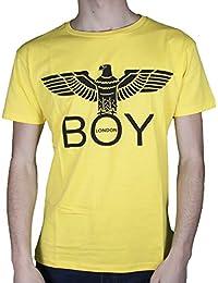 Boy London T-Shirt Uomo Giallo Basic Girocollo Stampa con Logo BLU6002 26109c81347