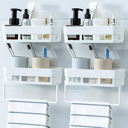 oppinty Zahnbürste Balkon frei lochen lagerregal schlafsaal Rack Wand hängen Wand handtuchhalter lagerung Zahn Wand Elfenbein weiß