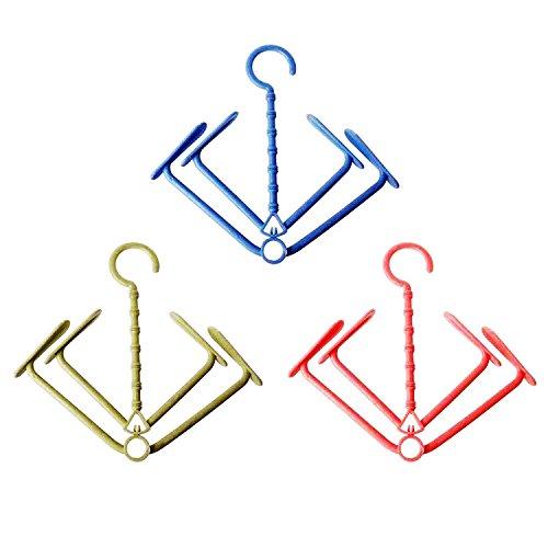 Makidar Perchas de Zapatos Mini Giratorio Zapatos de Secado de Suspensión 3 Colores