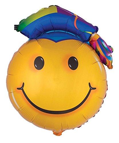 miley Folienballon mit Doktorhut - Gelb 90 x 67 cm - Luftballon Party Dekoration für Abifeier und Abschlussparty (Kostüm Luftballon Lieferung)