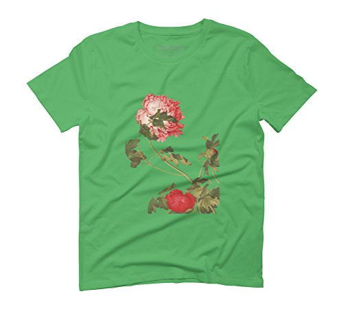 Blossom in the wind Men's Graphic T-Shirt - Design By Humans Green