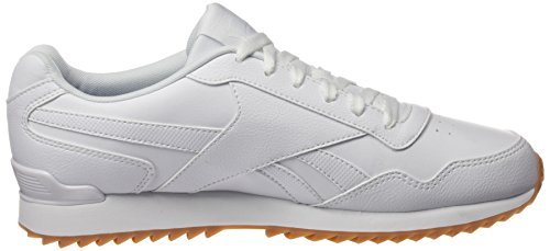 Reebok Royal Glide Ripple Clip, Sneakers Basses Homme Blanc (White/gum)