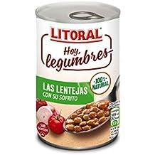 LITORAL Hoy Legumbres Lentejas con su sofrito - Plato Preparado Sin Gluten - 435g