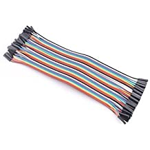 Neuftech 40pcs 20cm jumper Dupont cable de puente hembra a hembra para Arduino Breadboard