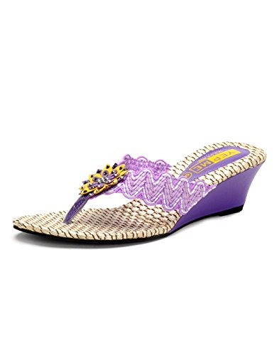 Yepme Women's Purple Synthetic Wedges YPWFOOT8664_5  available at amazon for Rs.299