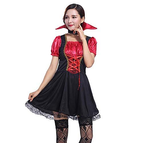 iBaste Halloween Kostüme Fancy Ball Kleid der Erwachsenen Frauen für Cosplay Dämonische Vampire