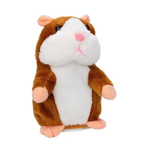 Sprechen Spielzeug Hamster (Entzückende sprechen sprechende Rekord Hamster Maus Plüsch Kinder Spielzeug (Khaki))
