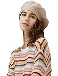 Baijiaye Mujeres Clásico Boinas Artista Boina Vasca Bombrero Vintage  Sombreros de Mujer para Fiestas Invierno Otoño d47882e3f2a