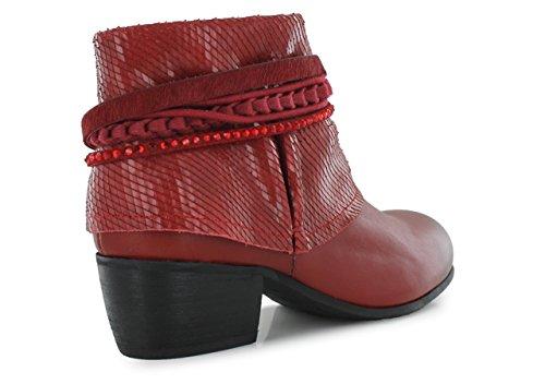 MAM'ZELLE GRIMM - Bottines / Boots - Femme Rouge