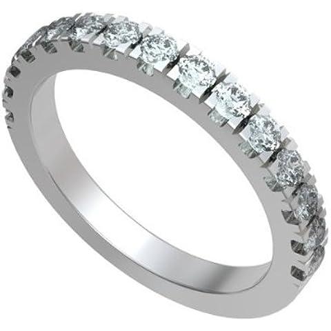 0.30ct H/SI1 Diamante Half Eternity Anello da