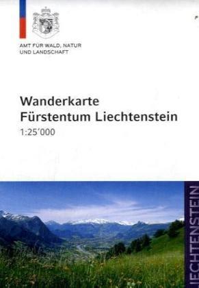 Fürstentum Liechtenstein, Wanderkarte