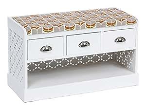 ts ideen landhaus flurbank mit schubladen retro schuhbank schuhschrank kommode sitzbank f r bad. Black Bedroom Furniture Sets. Home Design Ideas