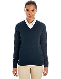 Harriton womens Pilbloc V-Neck Sweater (M420W)