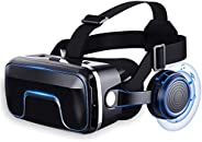 VR Headsets Virtual Reality Headset VR Goggles Glasses For 3D VR Movies Video Games For IPhone 12/Pro/Max/Mini