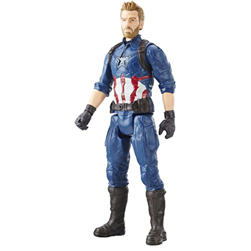 Marvel Infinity War Titan Hero Series - Captain America with Titan Hero Power FX Port  (Multi Color)