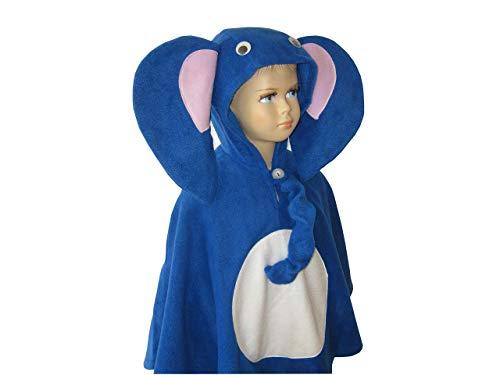 Kostüm Elefanten Kleinkind - fasching karneval halloween kostüm cape für kleinkinder elefant blau