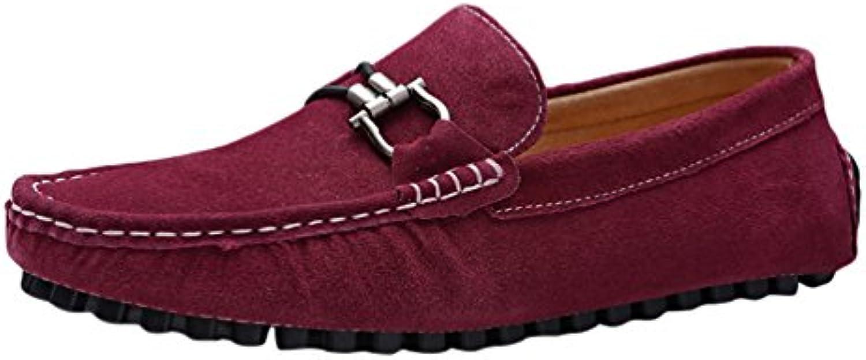 Bayamte Herren Mode Mokassins Beilaumlufig Schuhe Fahren Halbschuhe weissh Slipper