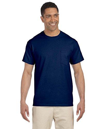 GILDAN G230Ultra Cotton Pocket T-Shirt–Esche Grau–4X L Gr. XX-Large, navy (Gildan T-shirts Pocket)