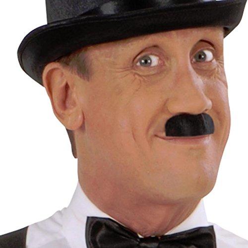 Charlie Chaplin Bart 2 Finger Schnurrbart 20er Jahre Historischer Mustache Kunstbart Charleston Kunsthaar Moustache Schnauzer Bart Engländer Gentleman Falscher Oberlippenbart Hollywood Filmstar Oliba Schnauzbart Karneval Kostüm Zubehör