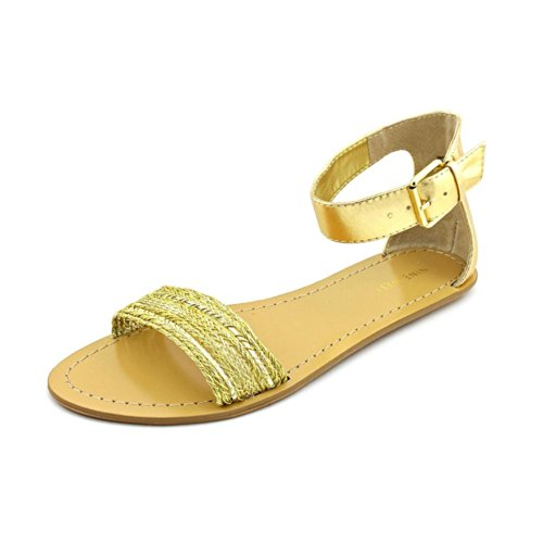 Nine West Solitude, Scarpe con cinturino alla caviglia donna, Oro (Gol/Gol), 41