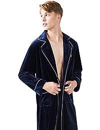 f600ca7f8e Männer Herbst Und Winter Samt Pyjamas Langarm Medium Dick EIN Stück  Luxuriöse Weiche Elegante Hotel Nachtkleid
