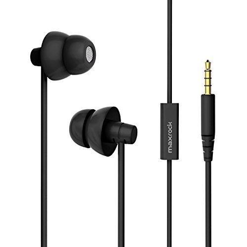 Preisvergleich Produktbild Maxrock kopfhörer In-Ear Ohrhörer für den Schlaf mit mikrophon Stereo noise cancelling quiet comfort 3.5 mm für Iphone, Android