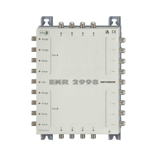 Kathrein EXR 2998 Satelliten-ZF-Verteilsystem Multischalter (2 Satelliten, 8 Teilnehmeranschlüsse, Kaskade, Klasse A)
