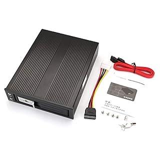 Tellaboull for Alloggiamento per Hard Disk in alluminio Sata da 3,5 pollici. Armadio HDD interno Con custodia HDD Con ventola