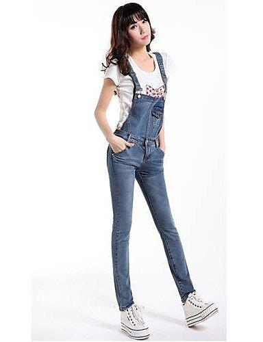 GSP-Pantalon Aux femmes Moulant / Décontracté / Mignon / Travail Toile de jean blue-27