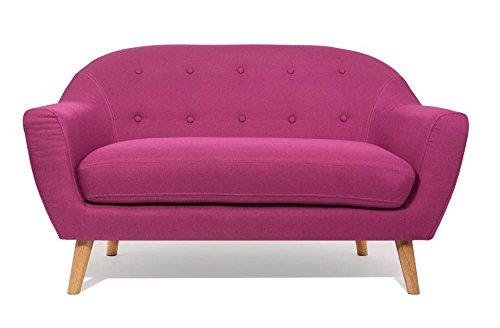 Sofa-skandinavischen-utmrkt-2-Sitzer-rosa