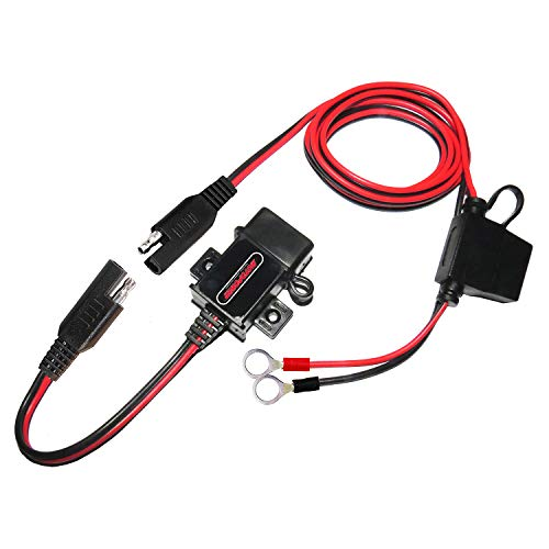 MOTOPOWER 3.1Amp Motorrad USB Ladegerät Kit SAE zu USB Adapter Kabel