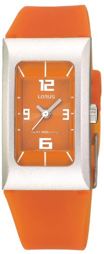 Lorus Watches RG261DX9 Unisex Watch Rubber Strap Orange