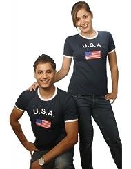 BRUBAKER USA Fan T-Shirt Blau Gr. S - XXXL