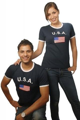BRUBAKER T-shirt USA / États-Unis - Collection Supporter - Bleu