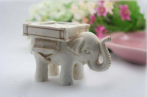 EQLEF® 1 Pieza Clásica Resina Elefante candelero Vela de la Boda se destacan Carpeta de Asiento de visitantes