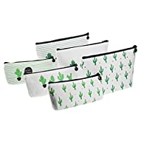 Goodma 6 Pieces Pen Holders Pastoral Floral Cactus Design Multi-Functional Stationery Pencil Pouch Travelling Cosmetic Bags, Assorted Sizes