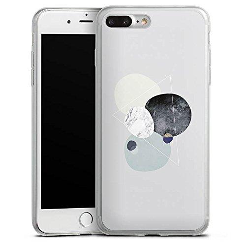 Apple iPhone 8 Plus Slim Case Silikon Hülle Schutzhülle Abstrakt Grafik Art Silikon Slim Case transparent