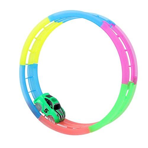 Piste magique, Twister Car Pistes de course 7pc Block Luminous Sets 0658296322544