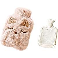 Preisvergleich für Drizzle Wärmflasche Mit Super Weichem Luxuriösem Plüsch-Bezug Tier-Serie 100% Naturkautschuk (Pink Mimi)