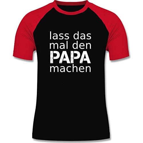 Vatertag - Lass das mal den Papa machen - zweifarbiges Baseballshirt für Männer Schwarz/Rot