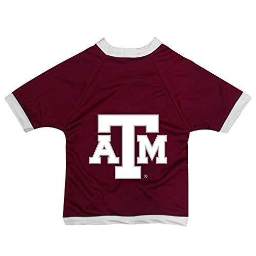 All Star Dogs NCAA Texas A&M Aggies Athletic Mesh Dog Jersey, Unisex-Erwachsene, A&M Aggies Athletic Mesh Dog Jersey, kastanienbraun, XX-Large -