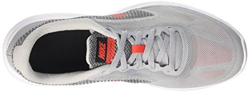 Nike Jungen Revolution 3 (Gs) Turnschuhe Grau (Wolf Grey/Max Orange/Black/White)