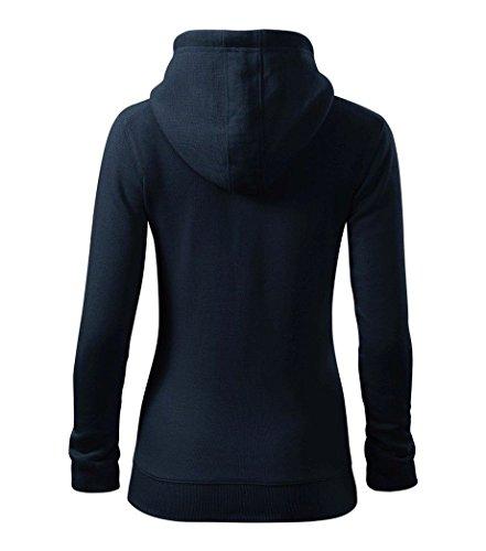 Dress-O-Mat Damen Sweatjacke Hoodie Jacke Kapuze Marine Blau