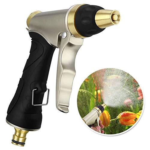 Garten Handbrause, Hochdruck Gartenbrause Garten Spritzpistolen für Autowaschanlagen, Garten Bewässerung - Verstellbarer Wasserdurchfluss - 100% Metal