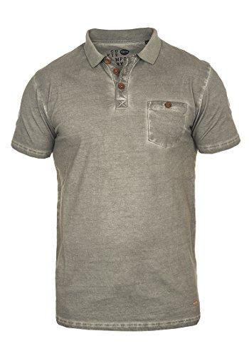 Pique Langarm Polo-shirt (SOLID Termann Poloshirt, Größe:XXL;Farbe:Mid Grey (2842))