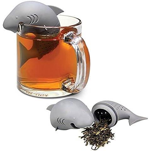 HeroNeo® Cute Shark infusor de silicona Loose Tea Leaf Colador de Hierbas especias Filtro Difusor